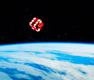 Dice in space