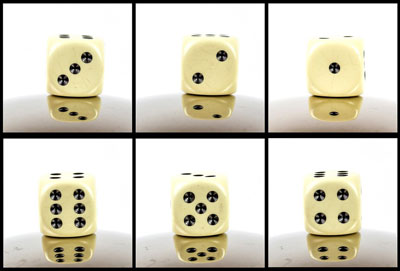Dices six variations