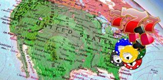 Gambling on map of America