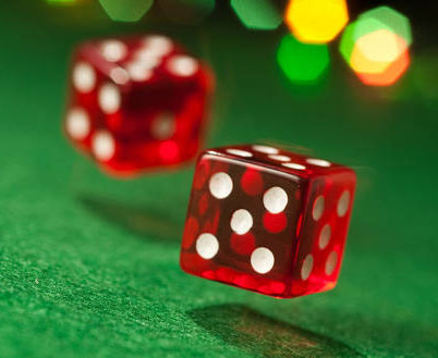 Dices Two red dices on the table