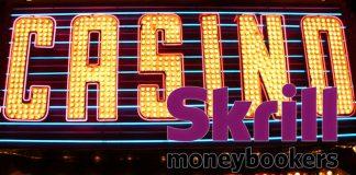 Gambling Casino with Skrill Logo on it