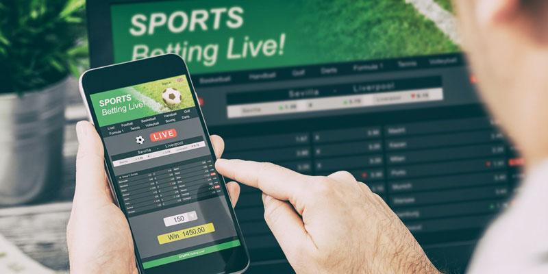 Sport Betting on laptop